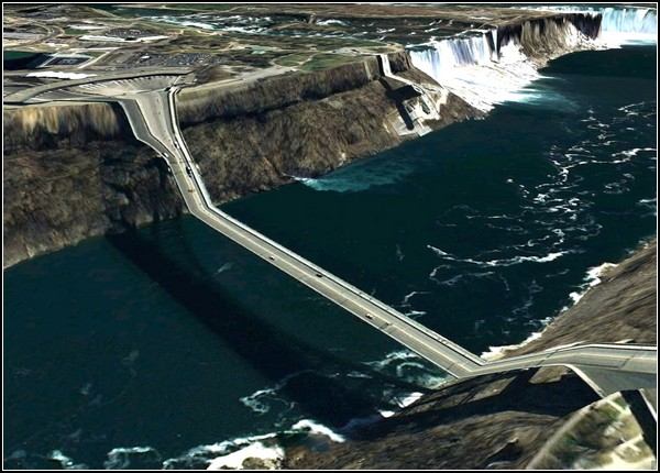 Искаженная реальность Google Earth на открытках от Клемента Валлы (Clement Valla)