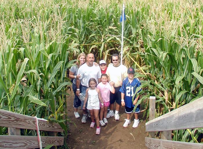 Кукурузный лабиринт на ферме рядом с Нью-Йорком
