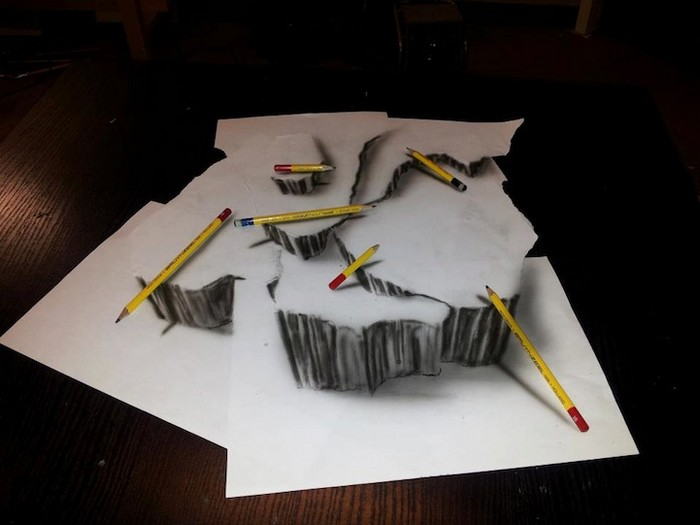 Трехмерные рисунки карандашом от Рамона Брюина (Ramon Bruin)