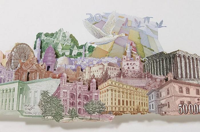 Валютные коллажи от Родриго Торреса (Rodrigo Torres)