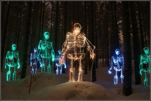 Зловещие картины светом от Янне Парвяинена (Janne Parviainen)