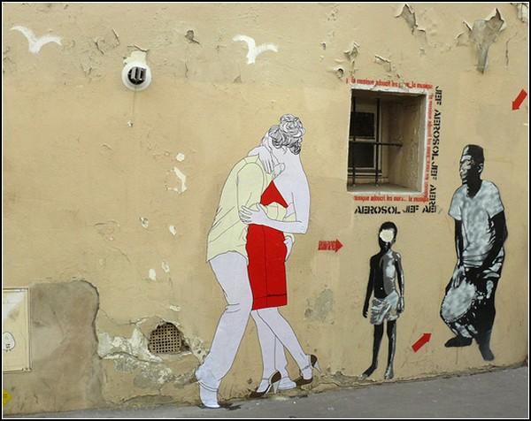 Эротический стрит-арт от Claire Streetart