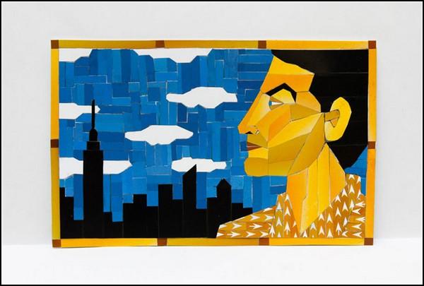 Чистое искусство из использованных карточек метро от Томаса МакКина (Thomas McKean)