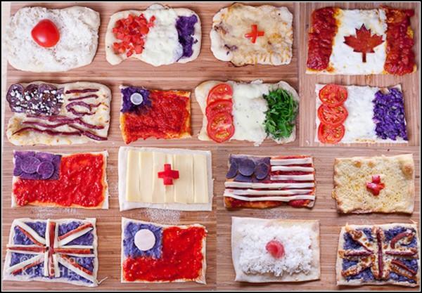 Миниатюрные пиццы-флаги от Tiny Urban Kitchen