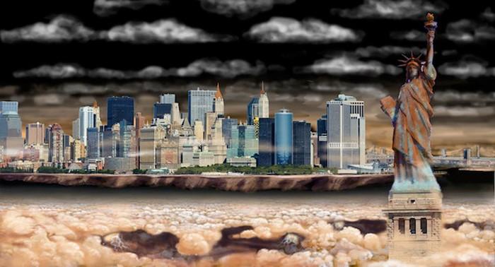 Нью-Йорк на Юпитере. Иллюстрация Николая Ламма (Nickolay Lamm)