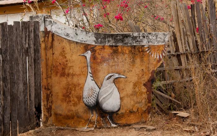 Проект Wide Open Walls – граффити на улицах деревни в Гамбии