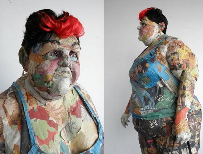 Скульптуры из газет от Вилла Курца (Will Kurtz): новый взгляд на папье-маше