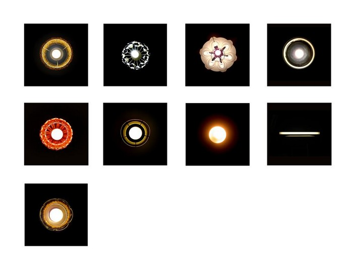 Лампы. Вид снизу. Необычный фотопроект от Яна Лестрата (Yann Lestrat)