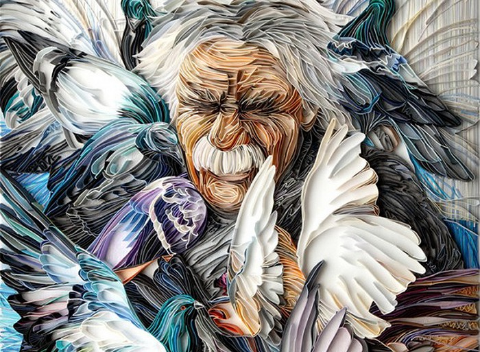 Невероятные бумажные аппликации от Юлии Бродской (Yulia Brodskaya)