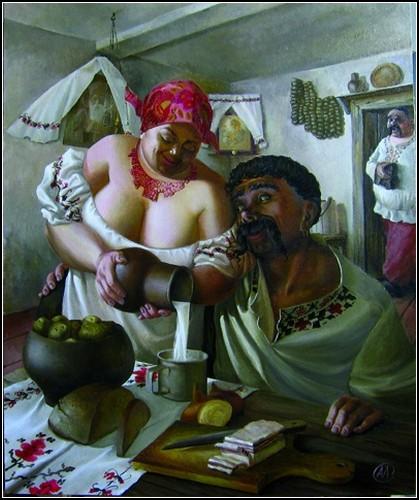 """Александр Иванов, """"Крынка молока"""