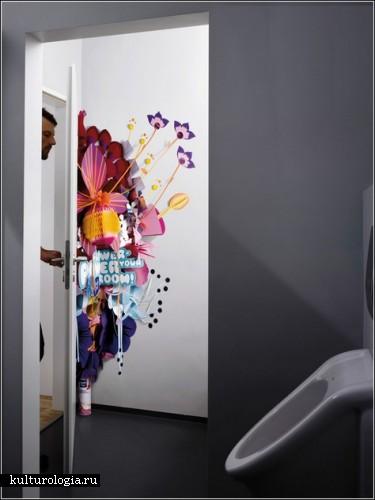 Цветочная сила для туалетных комнат