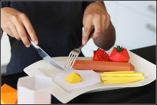 Как сделать из бумаги продукта