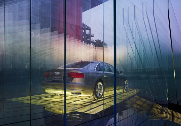AUDI Haus – стеклянный дом для AUDI