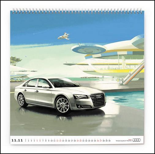 Ауди видит будущее: календарь Audi Россия на 2011 год