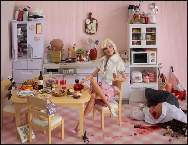 Кровожадная кукла Barbie от Мэриэл Клейтон (Mariel Clayton)