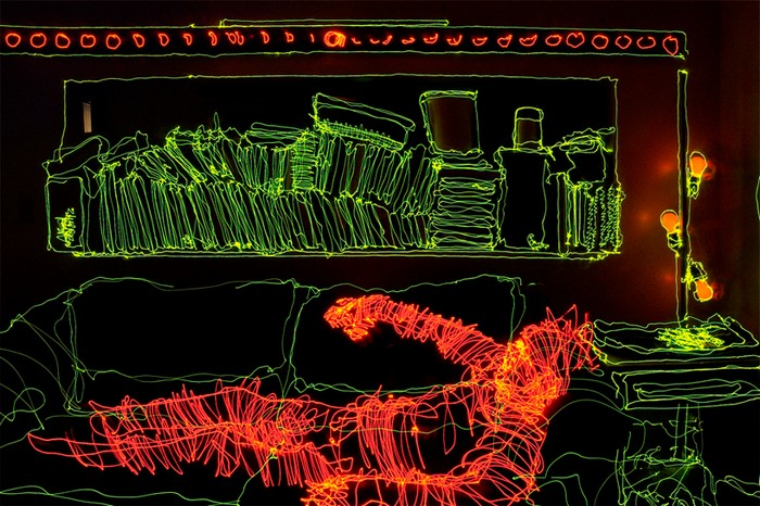 Apartment light drawing, Brian Matthew Hart