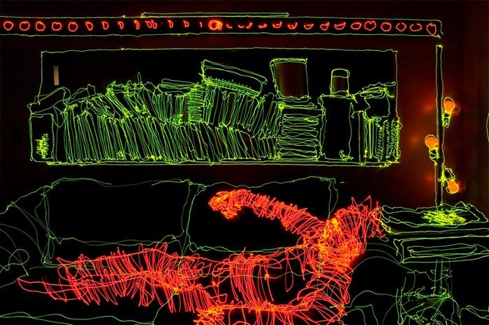 Apartment light drawing, Brian Matthew Hart