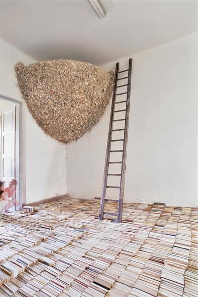 Meaning Minus Truth Conditions — инсталляция из 8 тысяч книг от Томаса Энгартнера (Thomas Ehgartner)