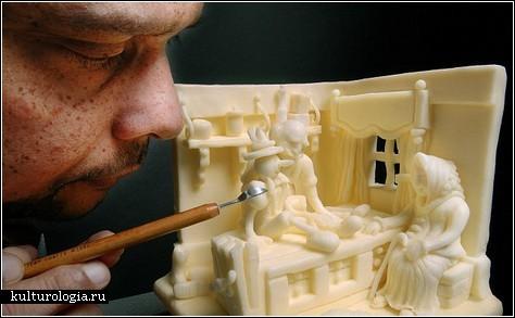 Скульптуры из масла
