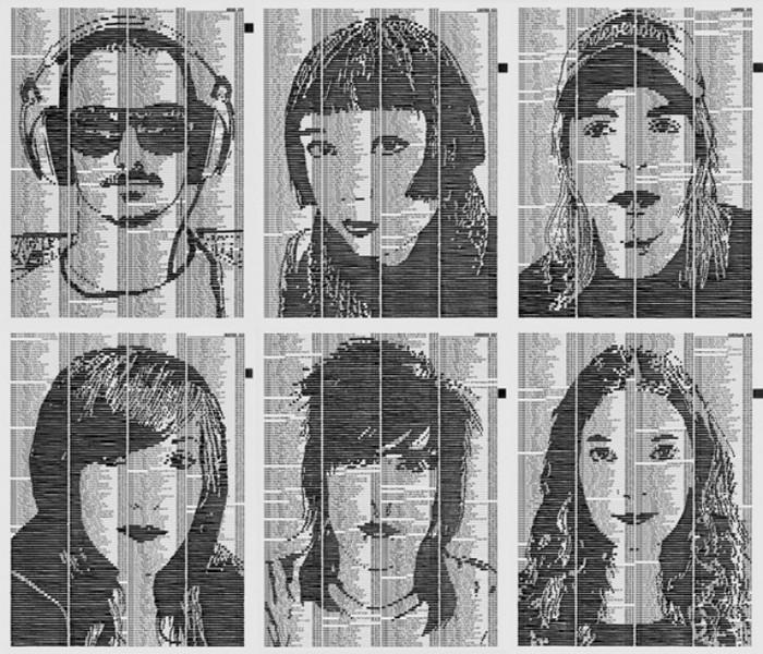 NEXT – картины из телефонных справочников от Карлоса Зуниги (Carlos Zuniga)
