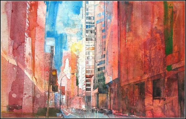 Живопись большого города от Christopher St. Leger