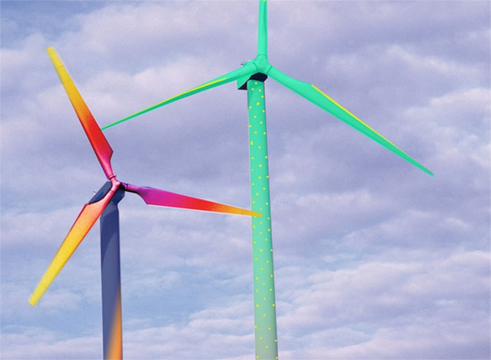 Aero Art installation – рисунки на ветряках