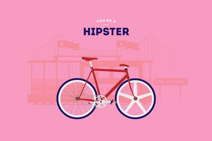 Хипстер. You are what you ride – велосипедные стереотипы от Cyclemon