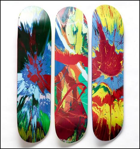 Скейтборды от Дэмьена Херста (Damien Hirst)