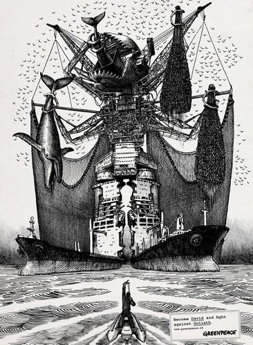 Greenpeace – Давид современного мира в графических иллюстрациях от Lowe Group