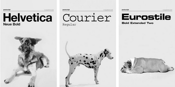 Dog as Fonts – собаки, которые так похожи на шрифты. Необычные принты от Dog as Fonts