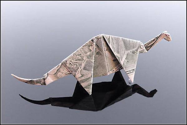 Оригами из долларовых банкнот от Крейга Сонненфилда (Craig Sonnenfeld) .