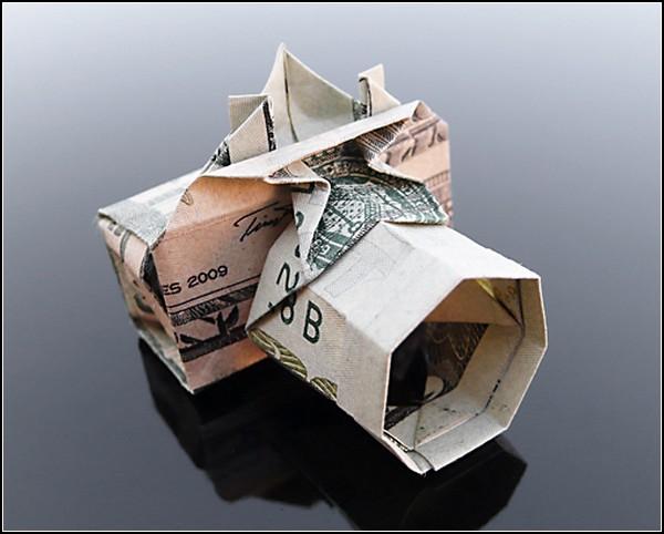 Оригами из долларовых банкнот от Крейга Сонненфилда (Craig Sonnenfeld)