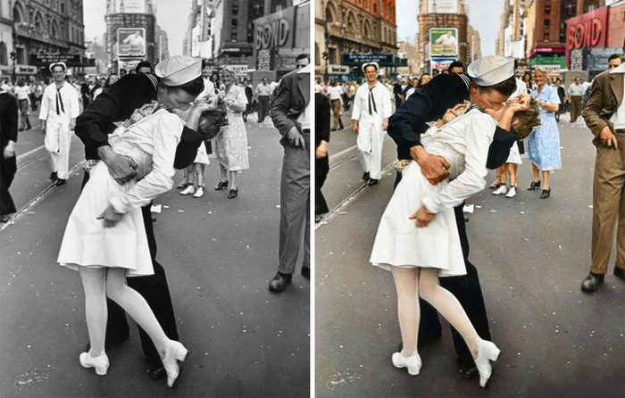 V-J day in times square, Sanna Dullaway