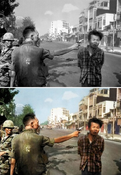 South vietnamese national police chief loan executing a viet cong officer in, Sanna Dullaway