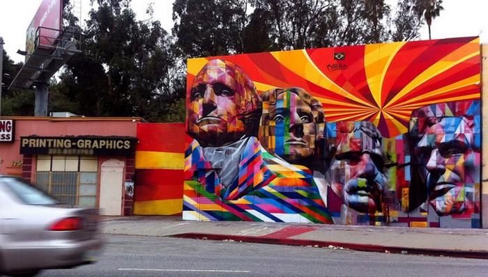Гора Рашмор в Лос-Анджелесе. Творчество Эдуардо Кобры (Eduardo Kobra)