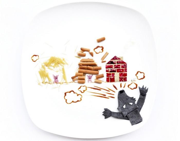 День 16. Три поросенка-2. 31 days of creativity with food. Hong Yi aka Red