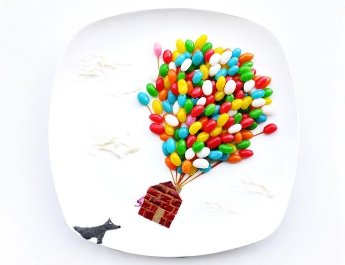 День 17. Три поросенка-3. 31 days of creativity with food. Hong Yi aka Red