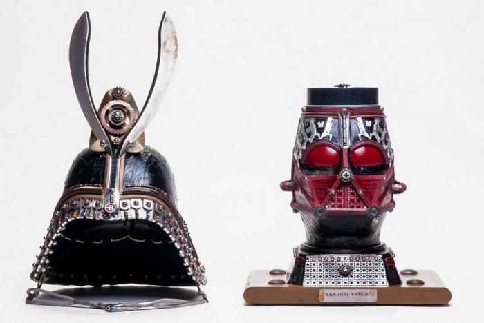 Samurai Vader – скульптура их старых устройств от Габриэля Дишоу (Gabriel Dishaw)