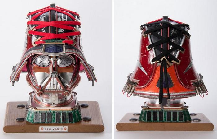 Air Vader – скульптура их старых устройств от Габриэля Дишоу (Gabriel Dishaw)