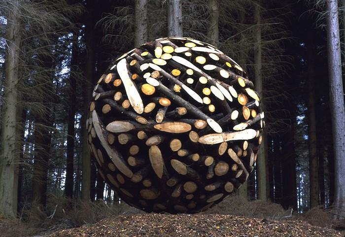 Древесные сферы. Геометрическое творчество Lee Jae-Hyo