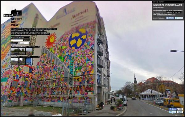Уличная живопись от Google и Red Bull