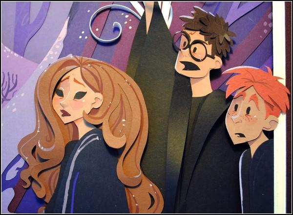 Удивительные аппликации от Бриттни Ли (Brittney Lee), посвященные Гарри Поттеру