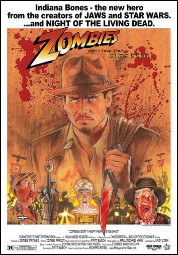 Зомби-постеры для шедевров мирового кино