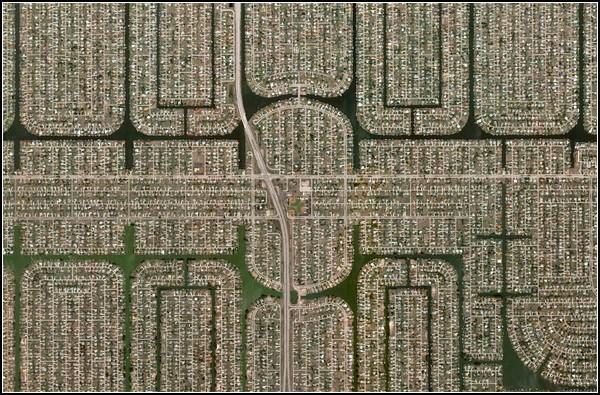 Урбанистическая живопись. Спутниковые снимки Флориды
