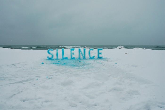 Ice Typography от Николь Декстрас (Nicole Dextras)