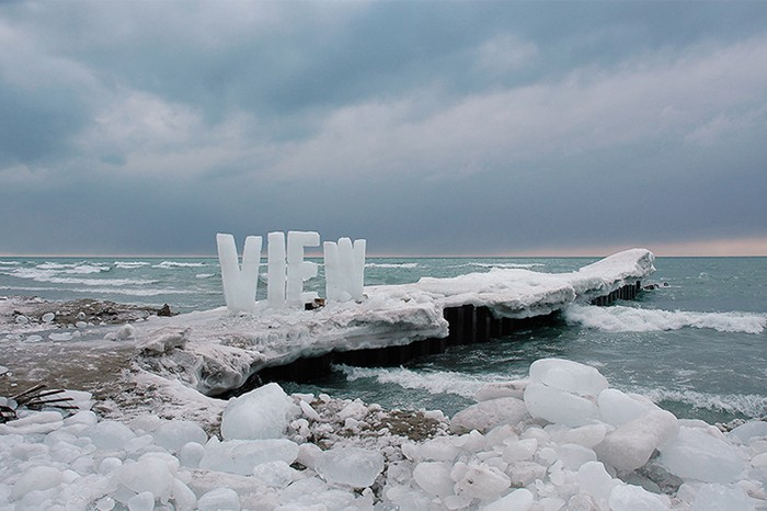 Ice Typography от Николь Декстрас (Nicole Dextras)