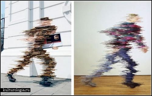Одна нога здесь – другая там. Рекламные скульптуры курьерской службы UPS