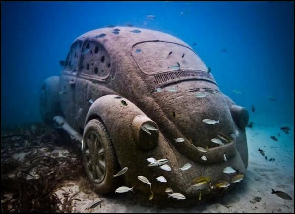 Volkswagen Beetle – искусственный риф в Мексике