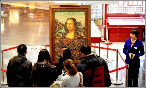 Самая дорогая в мире копия картины. Мона Лиза из драгоценных камней