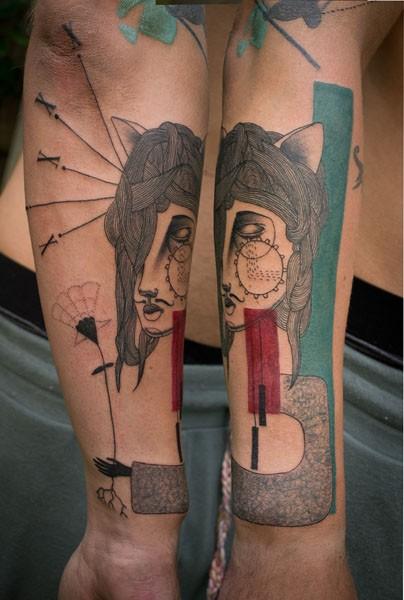 Самые странные татуировки в мире от арт-коллектива Expanded Eye